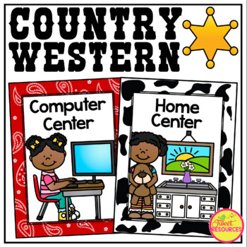 Center Signs {Country Western Classroom Decor Theme}