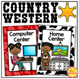 Center Signs in a Country Western Classroom Decor Theme