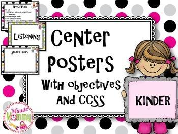 Center Posters- Kindergarten