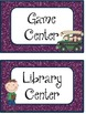 Center Posters/Labels *CAMPING THEME* 2 Color Sets Included!