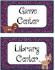 Center Posters/Labels *Dog Theme* 2 Color Sets Included!