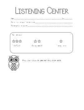 Center Recording Sheets