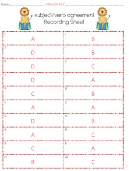 "Center Ring Sentences- 6 Grammar Activities that focus on ""the sentence"""