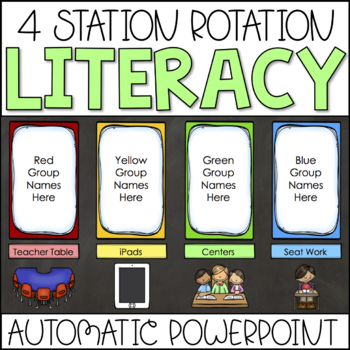 Center Rotation Chart Automatic PowerPoint