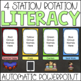 Center Rotation Chart Automatic PowerPoint Slides