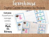 Farmhouse Center Rotation Board (Center Rotation Powerpoin