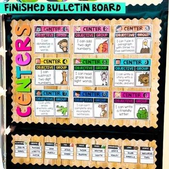 Center Rotation Bulletin Board {Kidlettes Edition}