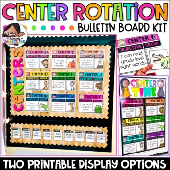 Center Signs | Center Rotation Chart | Bulletin Board