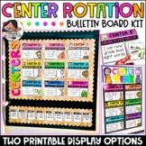 Center Signs | Center Rotation Chart | Bulletin Board