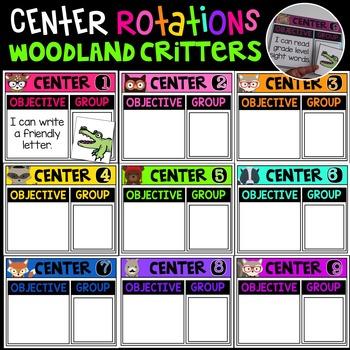 Center Rotation Bulletin Board {Woodland Critters Edition}