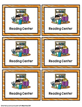Center Rotation Cards and Signs - with editable cards