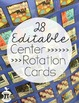 Center Rotation Cards (with Real Photo Images) - EDITABLE