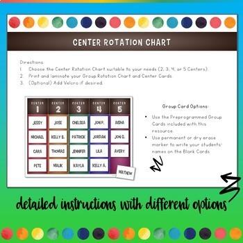 Center Rotation Chart Freebie