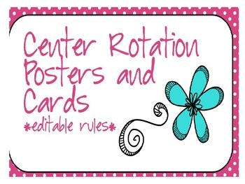 Center Rotation Posters and Rules