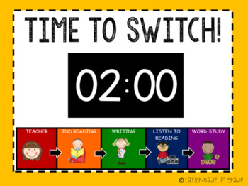 Centers / Stations Rotation PowerPoint - EDITABLE - Now With Video Timers!