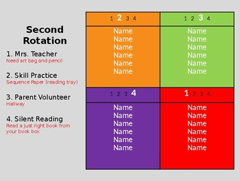 Center Rotation PowerPoint for Four Groups