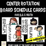 Center Rotation Schedule Cards