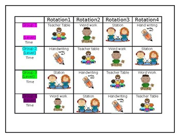 Center Rotation Schedules