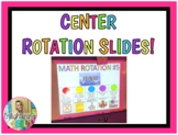 Center Rotation Slides (Editable & includes music with visual timer!)