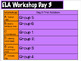 Center/Rotation/Workshop Schedule for ELA and Math with Timed Slides
