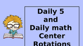 Center Rotations for Daily 5 and Daily Math