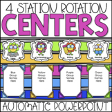 Center Rotations Automatic PowerPoint Chart