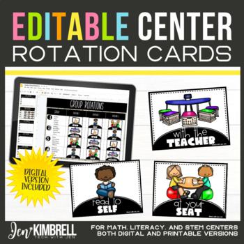 Center Rotations Digital Display | Math Literacy with Timers