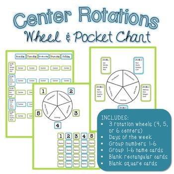 Center Rotations Wheel and Pocket Chart