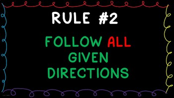 Center Rules Posters