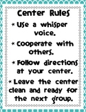 Center Rules Sign for Display