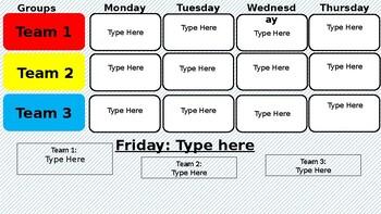 Center Schedule