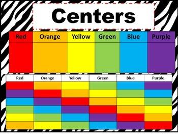 Center Schedule and Teacher Book Level List