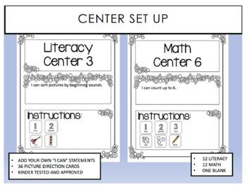 Center Set Up with Pictorial Directions