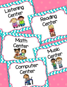 Center Sign Labels in Chevron