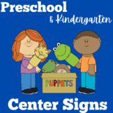 Center Signs for Preschool | Kindergarten