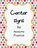Preschool Center Signs - polka dots