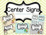 Center Signs - Chevron