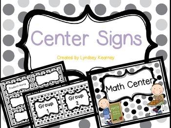 Center Signs - Polka dots