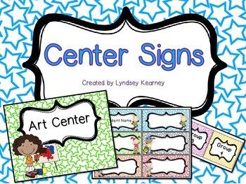 Center Signs - Stars
