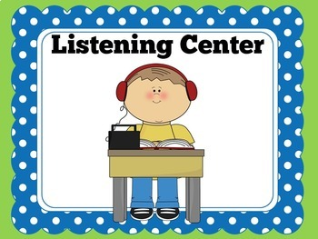 Center Signs | Kindergarten Centers | Preschool Centers | Center Posters