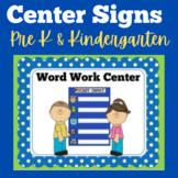 Center Signs for Preschool | Kindergarten