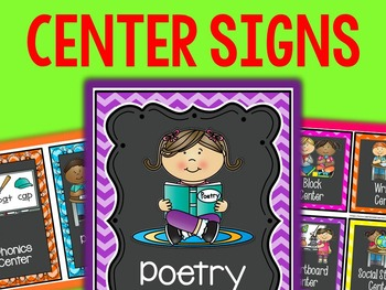 Center Signs with Pictures