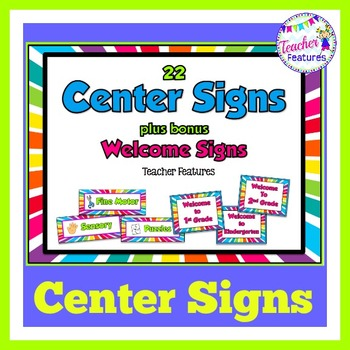 Center Signs: Rainbow