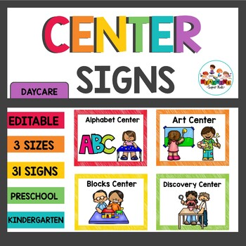 Center Signs and Cards PreK
