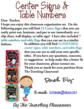 Center Signs & Table Numbers (Super Hero Theme) EDITABLE