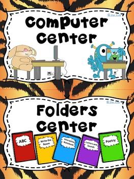 Center Signs {Animal Print}
