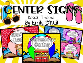Center Signs (Beach Theme)