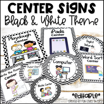 Center Signs {Black & White Theme}