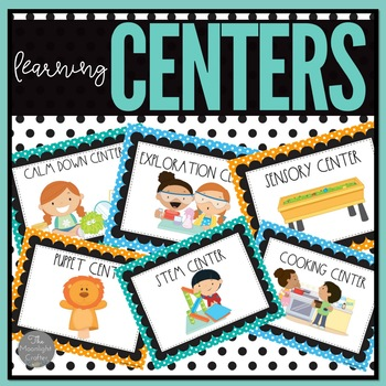 Center Signs Black and Bright Polka Dot Theme
