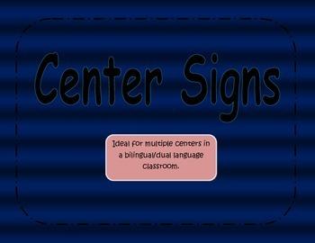 Center Signs Blue Effect